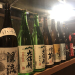 信州炭火炉端 すえひろ - 信州の日本酒たち