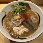 饗 くろ喜 - 「真鱈の味噌そば」1500円+「肝トッピング」150円