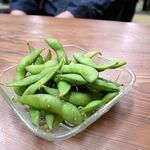 天平食堂 - お通しの枝豆