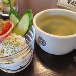 12451555 - サラダとスープ
