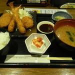 北の味紀行と地酒 北海道 - フライ盛り合わせ定食