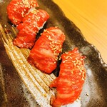 Yakinikukokokara - 本日の握り(上カルビ)
