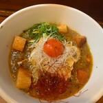 琉球泡盛酒場とぅるるん - 地豆麻婆麺 鶏出汁清湯