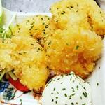 琉球泡盛酒場とぅるるん - ガーリックシュリンプとタルタルソース