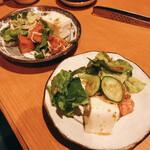渕上食堂 - お豆腐のサラダ❤︎