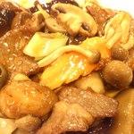 木蘭 - キノコと牛肉の炒め物