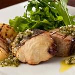 シャンブルドット ハナ - 初鰹と筍のグリル フレッシュハーブソース 辛味サラダ添え