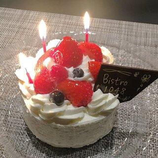 誕生日や記念日のお祝いに♪メッセージ付きケーキプレート