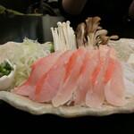 網元料理 徳造丸 - 「金目鯛しゃぶしゃぶ」一人前1,600円