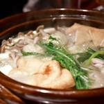 個室居酒屋 番屋 - 大山鶏とつくねのハリハリ鍋(冬期限定) 1人前@1,500円:写真はたしか3人前。オーダーは2人前〜。
