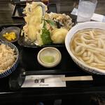 讃岐うどん 白庵 - 天ぷらセット