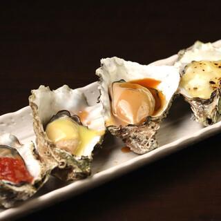 <焼き牡蠣>はあれこれ楽しめるソース20種類◎変わり種も!