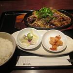 124563157 - 「米沢牛カルビ焼き御膳」(1,200円)