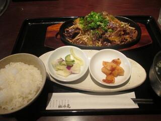 牡丹苑 - 「米沢牛カルビ焼き御膳」(1,200円)