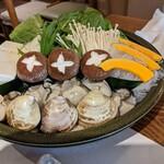 蕎喜 - かきハマグリ鍋