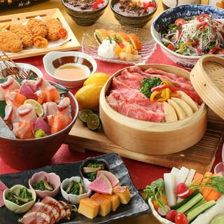 記念日や接待に◎肉料理がメインの和食コース飲放付4950円~
