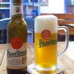 124568019 - チェコ産「ピルスナー・ウルケル」(¥790)。ビールの本場、さすがにホップの香りが高い!