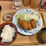 築地食堂 源ちゃん - カキフライ定食(1073円)