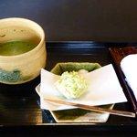 12457057 - 和菓子と抹茶のセット