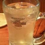 やきとり 山長 - 緑茶ハイ(100円)