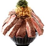 元祖 特盛ステーキ丼(スープ付)