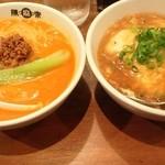 陳麻家 - 天津飯(半)+坦々麺(半)セット750円