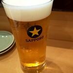 Sushihiro - 生ビール(^^♪
