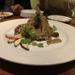 クワンチャイ - 宮崎産豚のチャップグリーンカレーのペーストにつけて