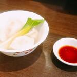 124595096 - 「水餃子・醤油だれ」(550円 税込)