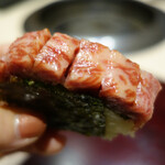 124596095 - サーロインの棒寿司