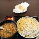 さぬきうどん 川福 - 料理写真:豚おろしつけ麺うどんと竹輪天