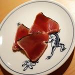鮨 あい澤 - 鰹の藁焼き
