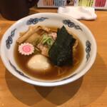 麺屋 史 - 味玉中華そば、初めて食べた、美味い