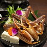 蟹と海鮮 個室居酒屋 東郷 - 生ずわい蟹 水炊き