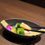 蟹と海鮮 個室居酒屋 東郷 - 蟹酢の蟹足