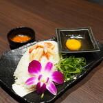蟹と海鮮 個室居酒屋 東郷 - 雑炊の準備