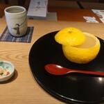 紫野和久傳 - 柚こごりとほうじ茶