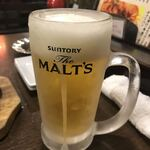 寿や - 生ビール