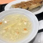 大阪餃子軒 - スープもおいしい