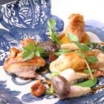 ビストロ 白樺 - 地鶏の3種類の調理