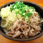 こがね製麺所 - 肉ぶっかけ冷2玉