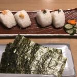 沼津海いち - 明太子しそ、いくら鮭おにぎり