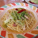 スパゲッテリア アリオ - 料理写真:キャベツとベーコンのペペロンチーノ