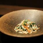 124639359 - 2020年1月再訪:渡り蟹と野沢菜の自家製パスタ・タリオリーニ☆