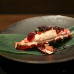 kawamura - 2020年1月再訪:焼きタラバ蟹 百合根と帆立貝のミンチ イクラがけ☆
