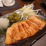 サーモンベーネ 鮭寮 - づけ大トロサーモンの炙り