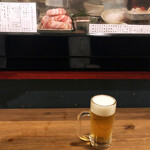 立ち呑みの さのや - 生ビール