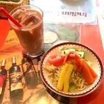 サーガル - ランチサラダとアイスチャイ