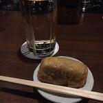 バー ゴヤ - 1日のうちに2回目の来店で、もう一度いなり寿司をいただく…