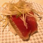 魚べい - 炙りまぐろ ねぎ塩ごま油